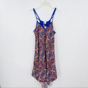 New Francesca's ALYA Blue Abbigail Print Dress